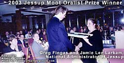 click for enlargement of photo of Jessup Oralist Prize Winner